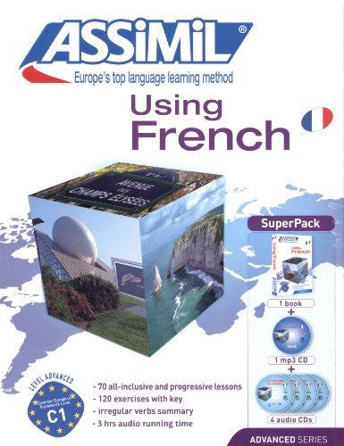 Using French Super Pack - Advanced French for English Speakers - Book + 4 CD's plus 1CD MP3 (French Edition)