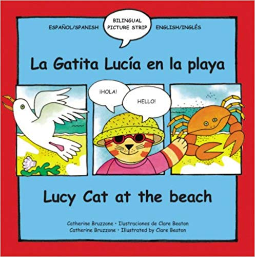 Lucy the Cat at the Beach Bilingual Spanish Book