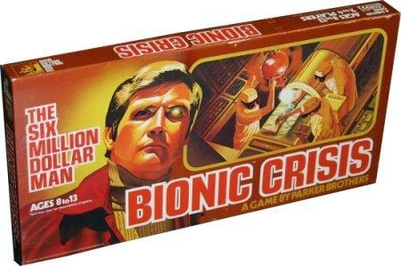 The Six Million Dollar Man Bionic Crisis Board Game 1975