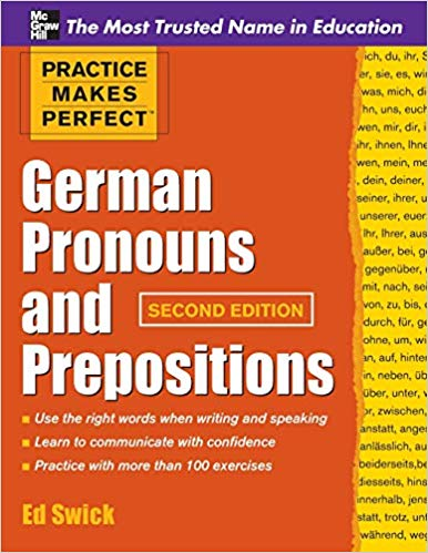 Pronouns and Prepositions German Workbook