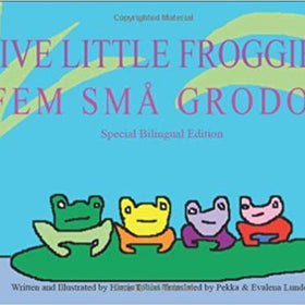 Five Little Froggies Bilingual Book English-Swedish