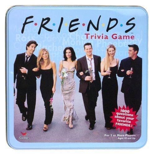Friends Trivia Game Collectible Blue Tin