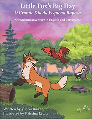 Little Fox's Big Day Bilingual Kids Book in Portuguese