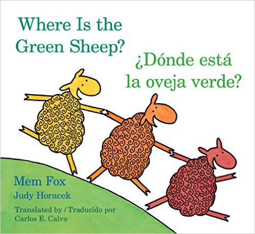 Donde esta la oveja verde? bilingual Board Book English and Spanish - Teacher In Spanish