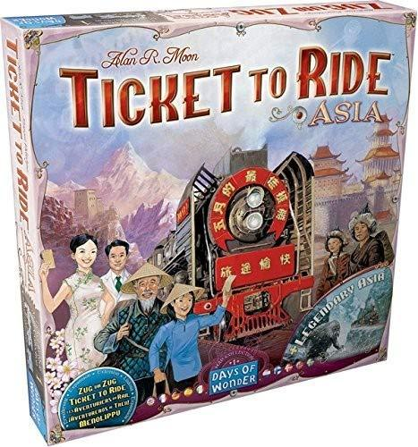 Ticket to Ride Board Game Asia Map Collection 1