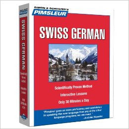 5 CD Pimsleur Learn to speak Swiss German Course (Learn in Your Car)