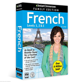 Instant Immersion French Family Edition Levels 1,2,3 - PC & MAC
