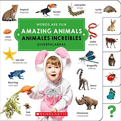 Amazing Animals English Spanish Bilingual Board Book