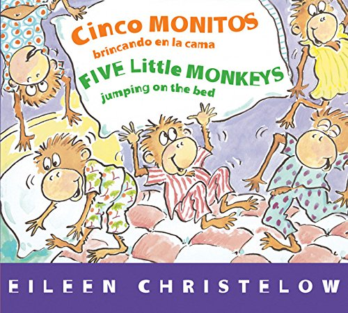 Five Little Monkeys Jumping on the Bed Spanish Bilingual Board Book
