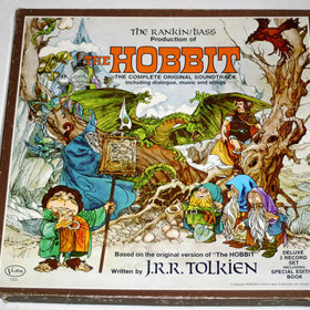 The Hobbit; Rankin Bass Production; Complete original soundtrack including Dialogue, Music and Songs; 2x LP boxed Set; Booklet; 1977 Very Good Plus
