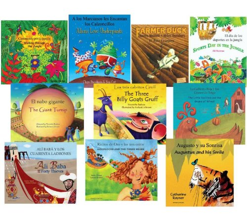 10 Lot of Children's Bilingual Books English Spanish Like New