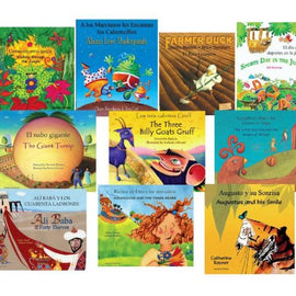 10 Title lot Children's Bilingual Books English Italian