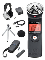 Zoom H1 Digital Recorder Bundle with APH-1 Accessory Pack and Headphones