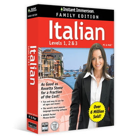 Instant Immersion Italian Family Edition Levels 1,2,3 (CD-ROM) PC & MAC