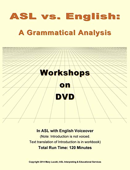 ASL vs English DVD with Workbook