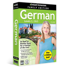 Instant Immersion German Family Edition Levels 1,2,3 PC & MAC