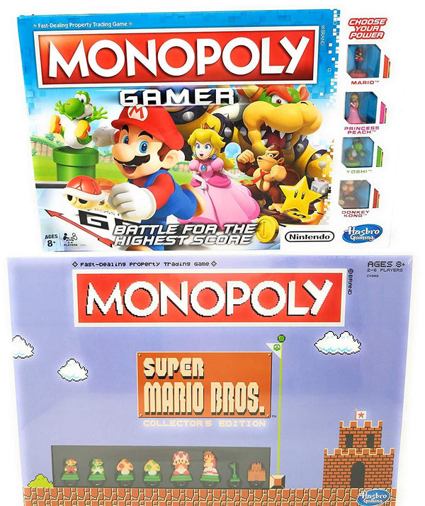 Monopoly Gamer and Super Mario Bros Monopoly Game Bundle