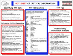 Hot Sheet of Critical Information for Emergency Personnel
