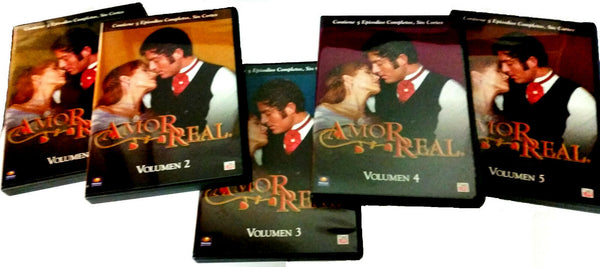 Amor Real, Vol. 1-5 Spanish Telenova (2006, Time/Life)