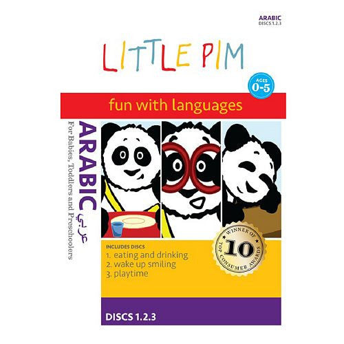 Arabic Little Pim Individual Packages: (Eating and Drinking / Wake Up Smiling / Playtime / In My Home / Happy, Sad and Silly / I Can Count!)