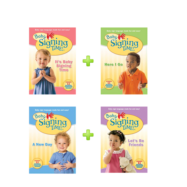 Baby Signing Time DVD's - Complete 4 Volume Set