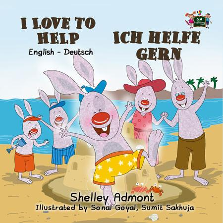 I Love to Help English and German Bilingual Kids Book