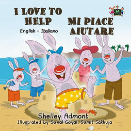 I Love to Help English and Italian Bilingual Kids Book