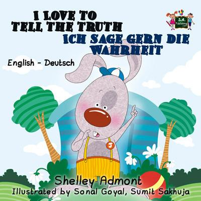 I Love to Tell the Truth English and German Bilingual Kids Book