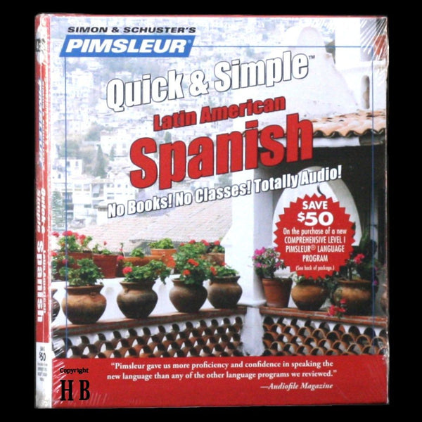 Pimsleur Learn to Speak Spanish Language Quick and Simple 4 CD NEW