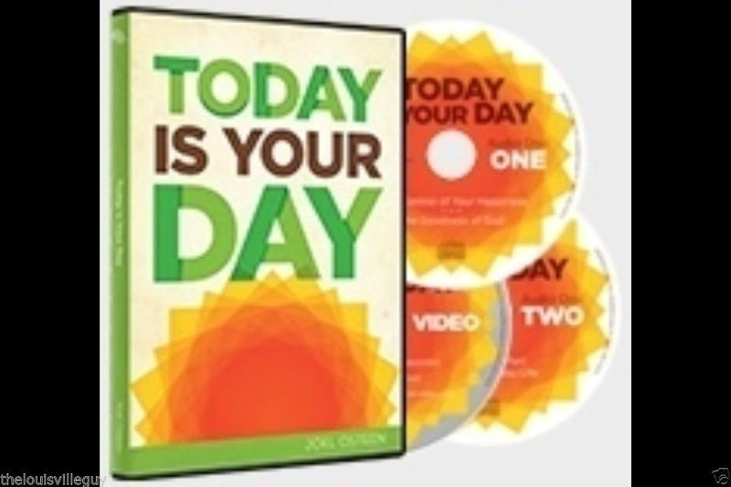 "Joel Osteen - ""Today Is Your Day"" 2 CD/1 DVD Set - NEW"