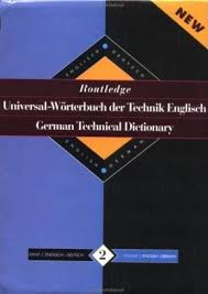 Routledge German Technical Dictionary Routledge Hardback Like New