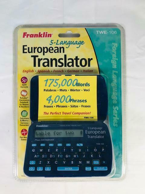 Franklin TWE 106 5-Language European Translator Spanish Italian French German English