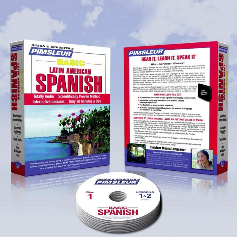 5 CD Pimsleur Learn to Speak SPANISH Course (Learn in Your Car)