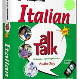 Linguaphone Italian All Talk and Travel Pack Beginner Bundle 6 cd's and Phrasebook