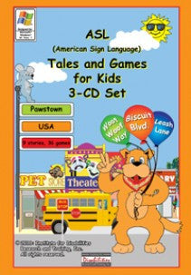 ASL Tales and Games for Kids, 3-CD Set