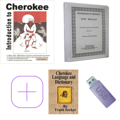 Cherokee Learning Kit - Introduction and Intermediate Cherokee plus Dictionary and USB