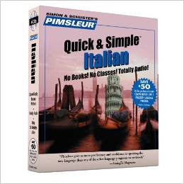 Italian Modern Pimsleur Quick and Simple Audio CD