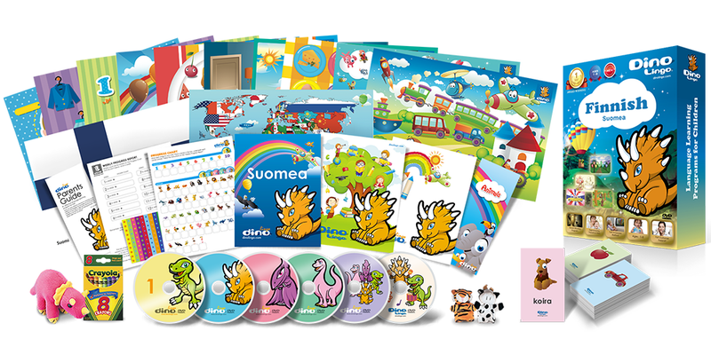 DinoLingo Finnish for Children or Home-school Online subscription