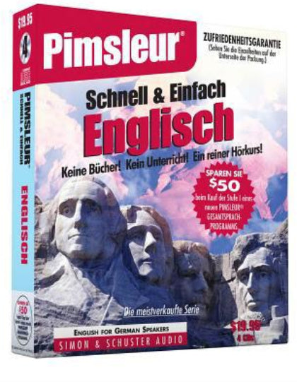 English for German Speakers Pimsleur CD