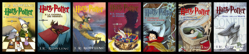 Italian Harry Potter 7 Volumes Book Set -Free Shipping