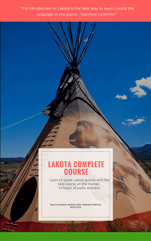 Learn Lakota Book and 15 CD Fast and Free Shipping