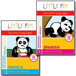 Spanish Little Pim Individual Packages: (Eating and Drinking / Wake Up Smiling / Playtime / In My Home / Happy, Sad and Silly / I Can Count!)