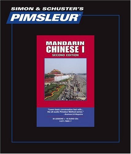 Mandarin Chinese Pimsleur Levels 1,2,3,4