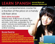 Platiquemos Spanish in a Flash -on USB drive