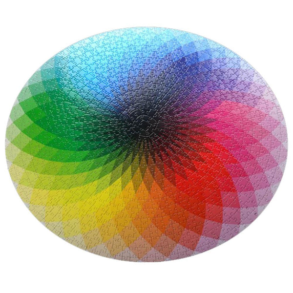 1000 Pcs Rainbow Geometrical Jigsaw Puzzle