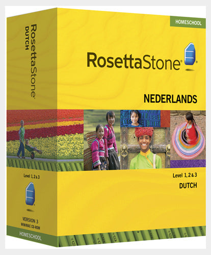Rosetta Stone® 1 2 &3 DUTCH (Nederlands) HOMESCHOOL with audio and Headset plus Phrasebook