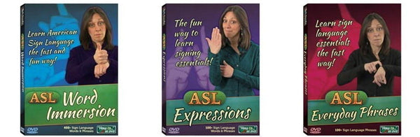 ASL DVD 3 Pack