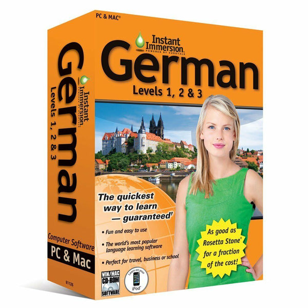 Instant Immersion German Language Software Levels 1, 2, 3
