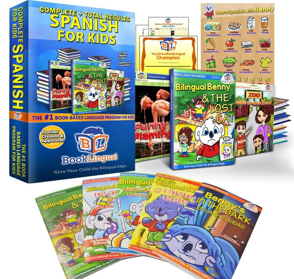 Complete Spanish for Kids Total Learning Course (ages 2-8) - Teacher In Spanish