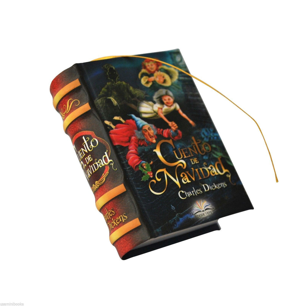 New Cuento de Navidad by Charles Dickens Miniature Book 439 pages Spanish - Teacher In Spanish